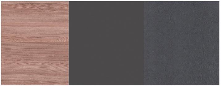 «ясень шимо темный» + «антрацит» + экокожа «polo графит»